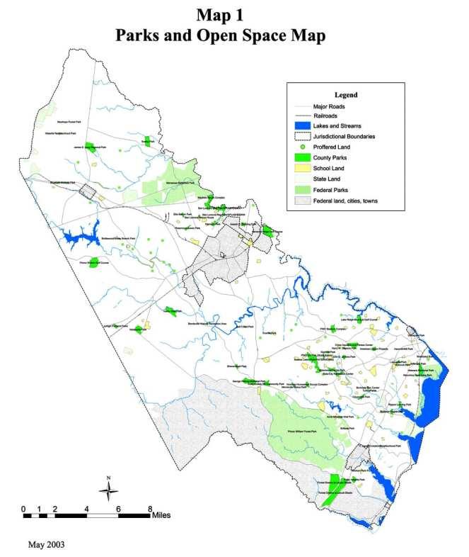 Prince William County parks map