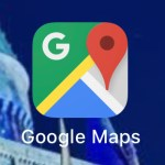 Google maps iPhone icon. night sky photo apps