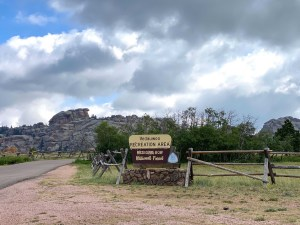 Entrance sign to Vedauwoo National Recreation Area