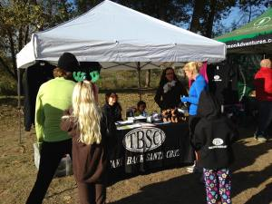 Mayor Hilary Bryant visits the TBSC booth