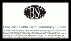 Take Back Santa Cruz Community Survey