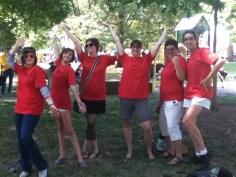 SACHA crew displaying the fabulous PSAC shirts.