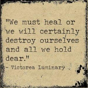 We must heal
