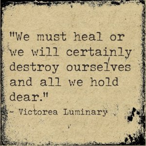 We must heal