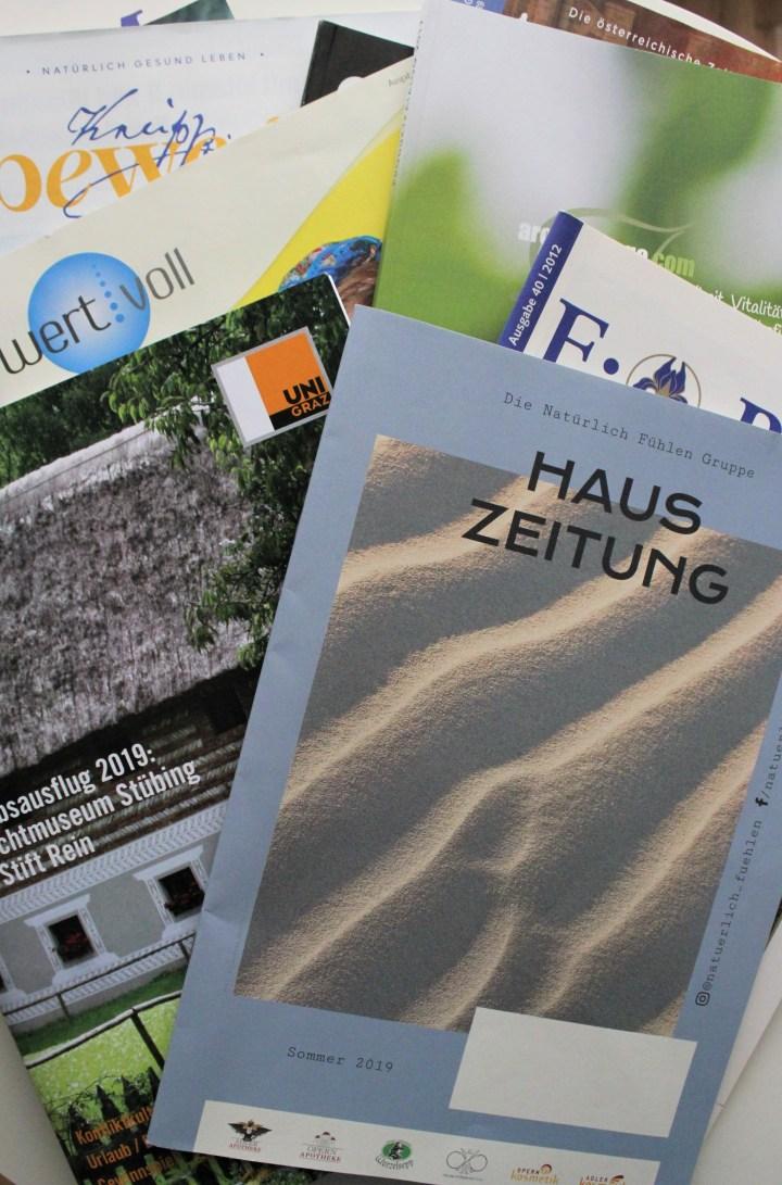 Alles über Faszien – meine Artikel in diversen Zeitschriften