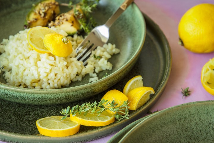 Beilagengericht Zitronen-Risotto mit Erbenkürbis