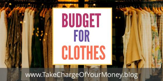 Budget for clothing