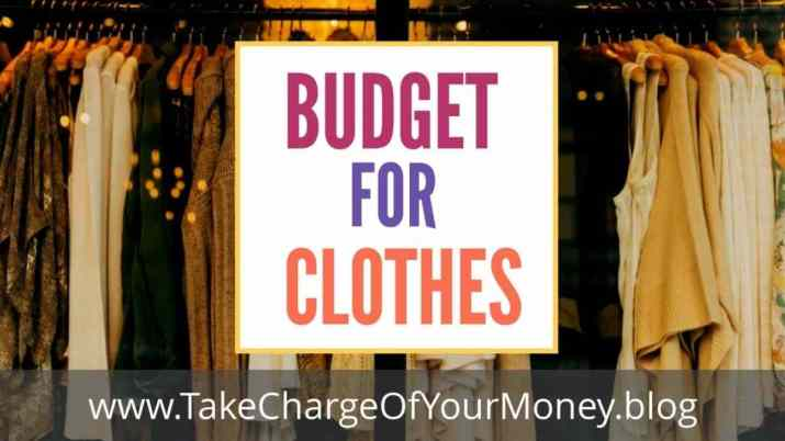How to budget for clothes