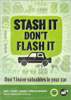 Stash It Don't Flash It poster from CCID