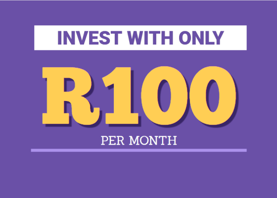 Invest with only R100 per month