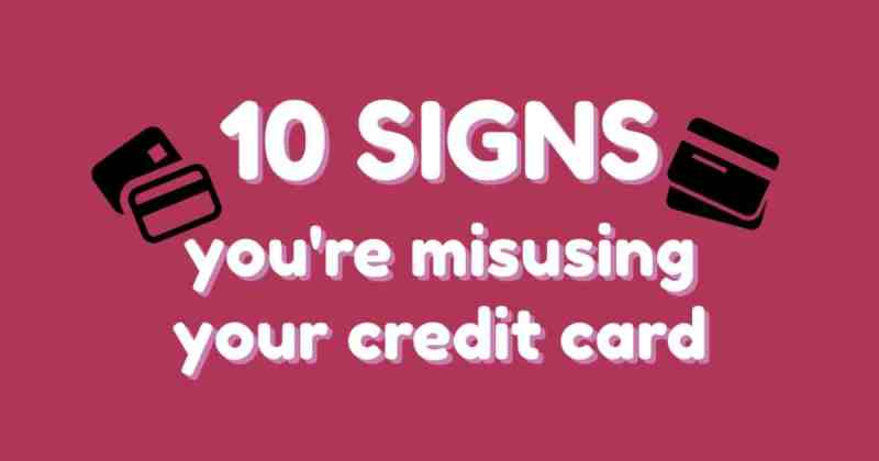 Warning signs of credit card overuse