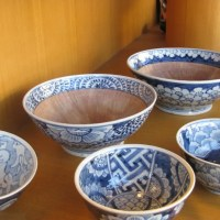 染付けのすり鉢(童工房)