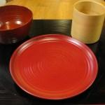 漆器のパン皿(山中塗り)