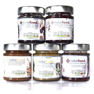 box of 5 takefood preserves