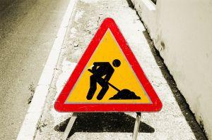 カナダの道路工事