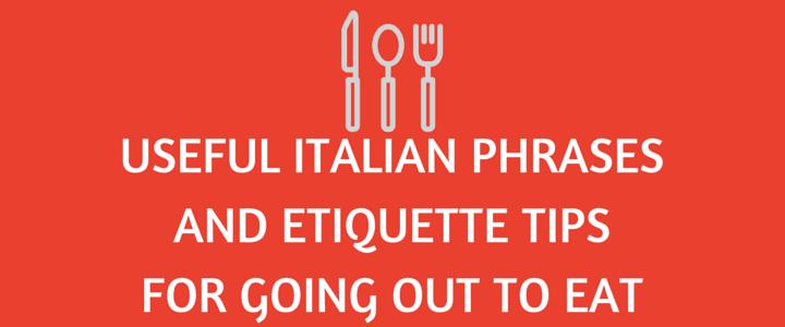 Italian etiquette and customs