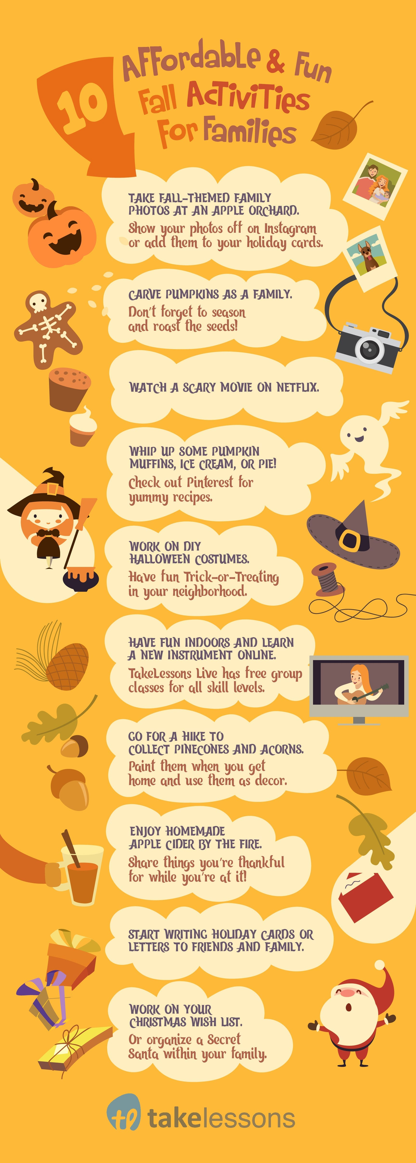 10 Affordable Amp Fun Fall Activities For Families Infographic