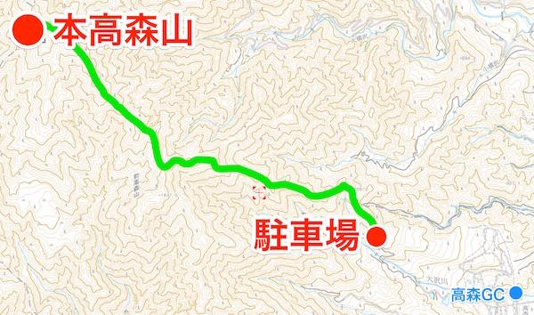 本高森山 登山地図