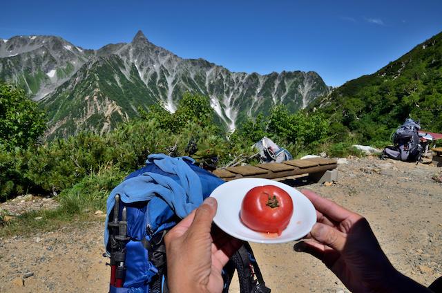 表銀座縦走コース ヒュッテ西岳 トマト