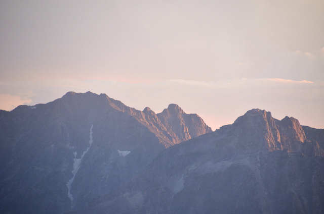 大天井岳 山頂からの眺め ジャンダルム方面
