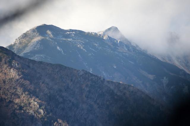 空木岳 池山尾根登山道 ヨナ沢の頭 宝剣岳方面