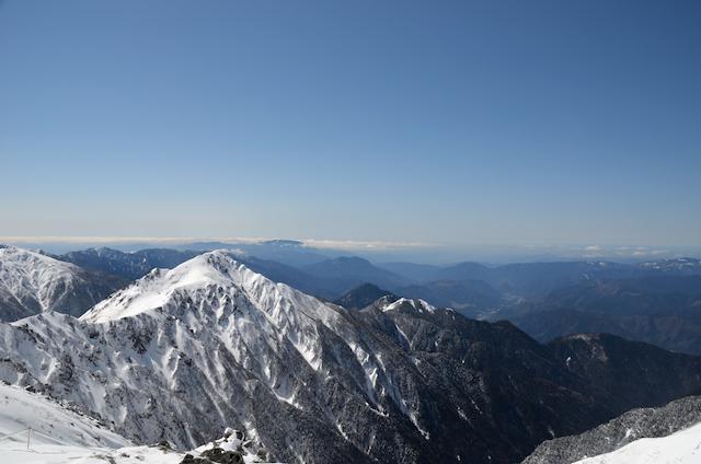 冬 木曽駒ヶ岳 山頂からの眺め