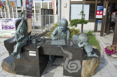 境港駅 水木しげる 銅像