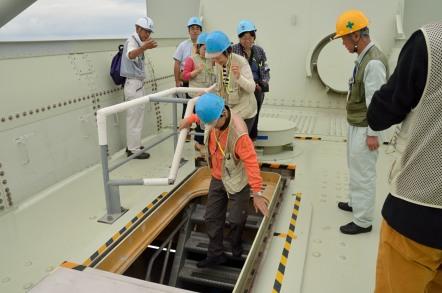 明石海峡大橋 ブリッジワールド 主塔の出入り口