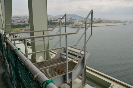 明石海峡大橋 ブリッジワールド 作業用乗車階段