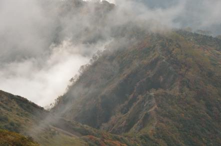 五竜岳 下山