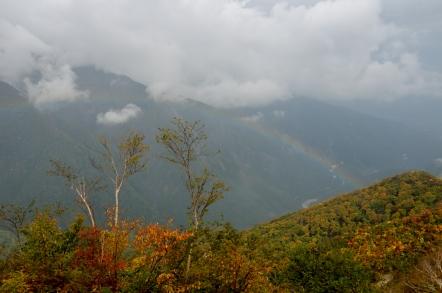 五竜岳 虹
