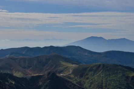 横手山山頂 浅間山 富士山