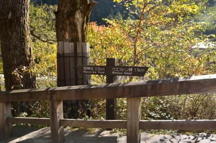 上高地 河童橋から明神池