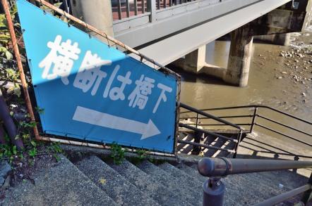 香嵐渓 巴橋 横断は橋下