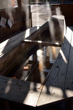 天龍峡 りんご足湯