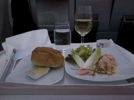 ルフトハンザ LH737便 ビジネスクラス 食事