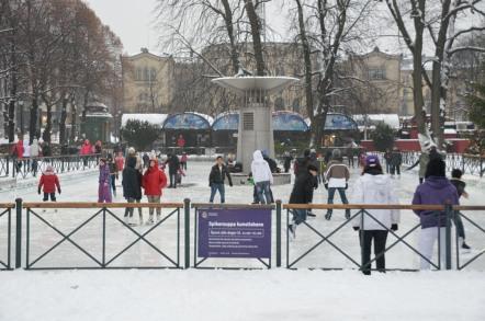 オスロ 屋外スケートリンク カール・ヨハン通り