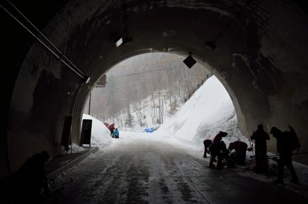 上高地 釜トンネル