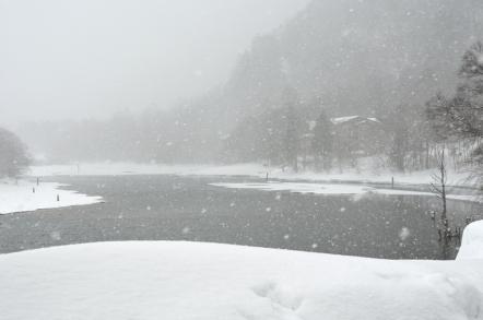 上高地 大正池 スノーシュー