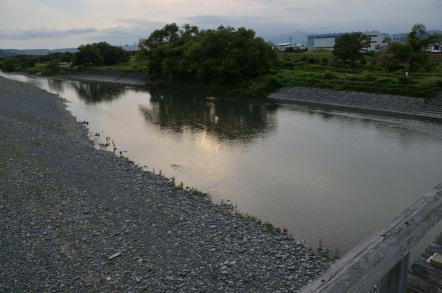 大井川 蓬莱橋 左岸