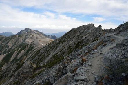 立山縦走 稜線歩き