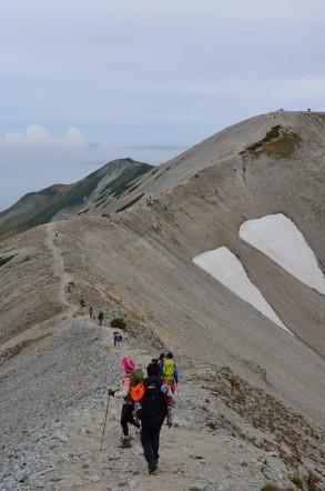 真砂岳 登山道