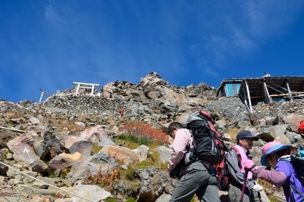 御嶽山 9合目から頂上