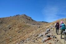 御嶽山 山頂近く