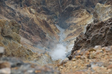 御嶽山 噴火口