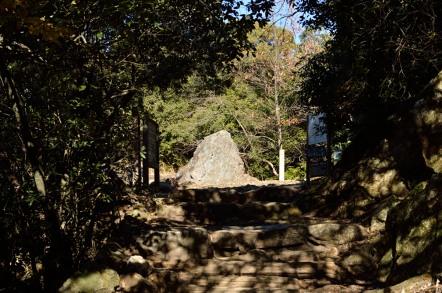 めい想の小径と馬の背登山道 分岐点