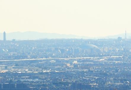 岐阜城からナゴヤドーム