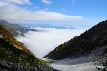 白馬岳 登山道