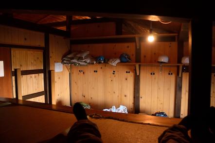 奥穂高岳 燕岳の部屋