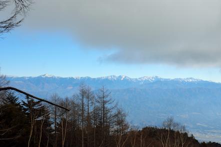 本高森山 登山 南アルプスの眺め
